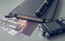 証拠写真、ボイスレコーダー、手帳